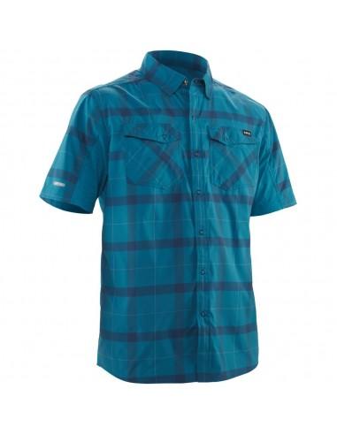 Koszula męska z krótkim rękawem GUIDE - NRS, kolor - fjord